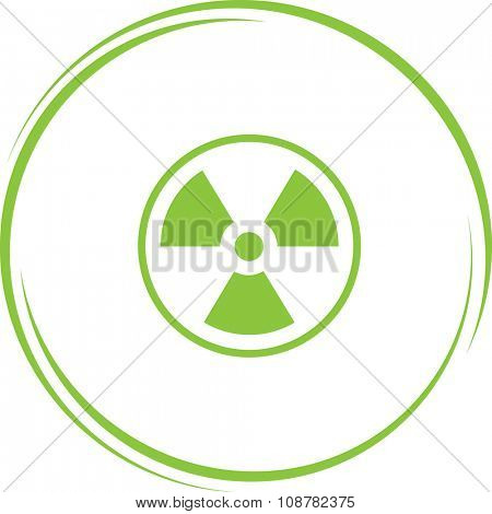 radiation symbol. Internet button. Raster icon.