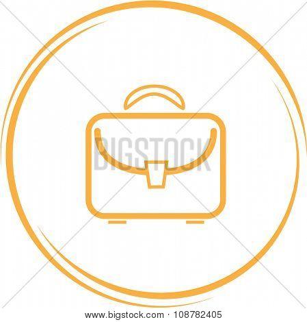 briefcase. Internet button. Raster icon.