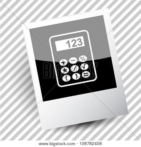 calculator. Photoframe. Raster icon.
