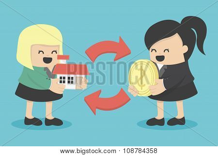 Illustration Concept  Home Buying