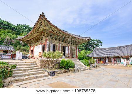 Ganghwa-gun, Korea - August 17, 2015: Daeungbojeon In Jeondeungsa Temple