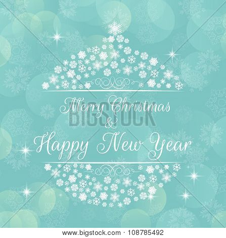 Merry christmas and happy new year background poster