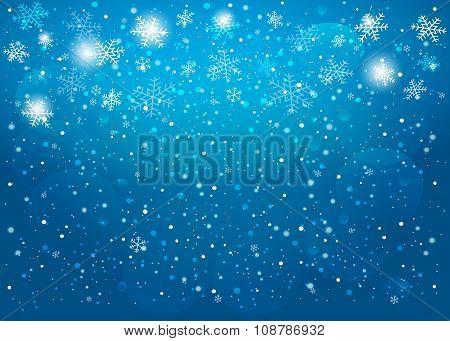 Blue Christmas Background. Vector Eps10.