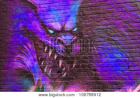 Street art werewolfe