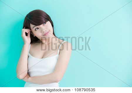 Young Woman Think Something