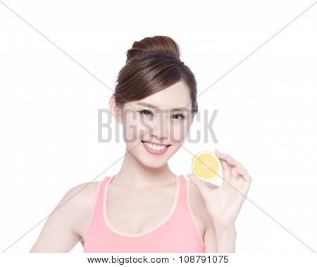 Woman Show Orange Benefit Health
