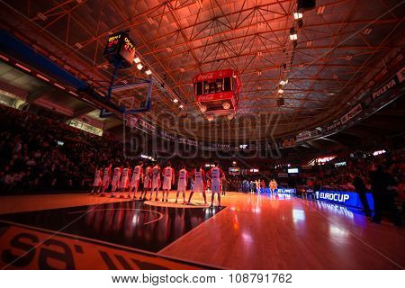 VALENCIA, SPAIN - NOVEMBER 18th: Fonteta Stadium during Eurocup between Valencia Basket Club and Sluc Nancy at Fonteta Stadium on November 18, 2015 in Valencia, Spain