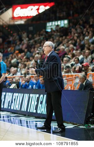 VALENCIA, SPAIN - NOVEMBER 18th: Weisz during Eurocup between Valencia Basket Club and Sluc Nancy at Fonteta Stadium on November 18, 2015 in Valencia, Spain