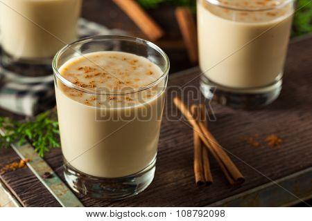 Cold Refreshing Eggnog Drink