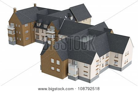 Large two storey villa, top view