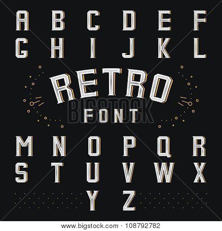 Chicago retro alphabet