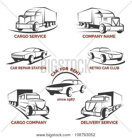 Car club logo vector set