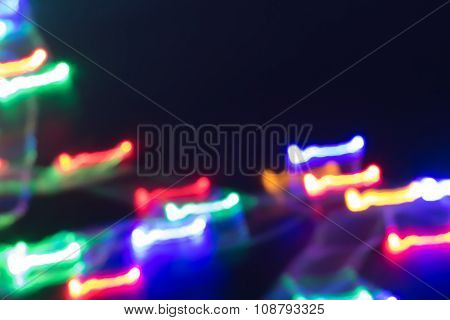 Futuristic Abstract Glowing Background Resembling Motion Blurred Neon Light Curves