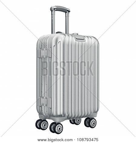 Big silver luggage