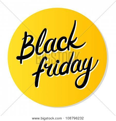 Black Friday round icon