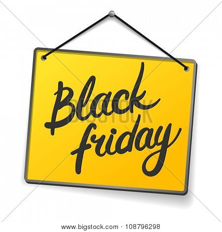 black Friday - yellow door sign