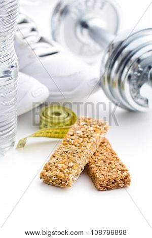 the muesli bar and sport equipment