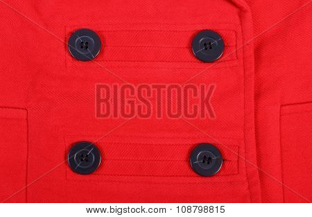Sewing Buttons On Coat Background