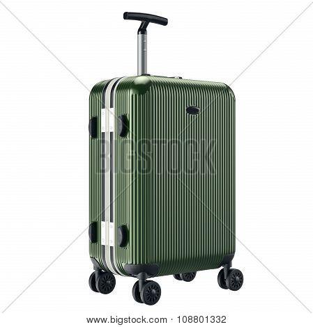Big green luggage