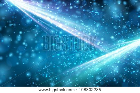 Festive abstract blue background. Vector Illustration.