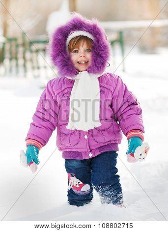 Smiley child girl