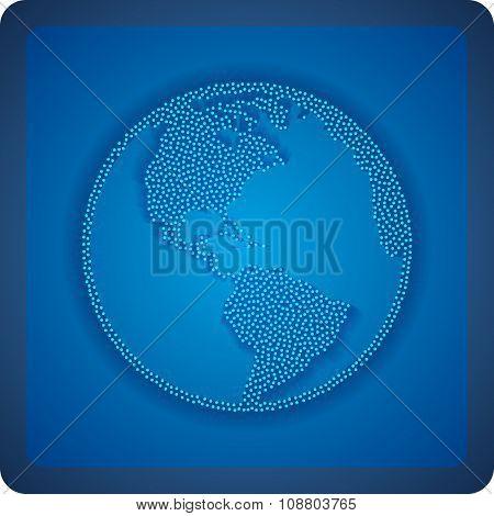 Earth planet globe