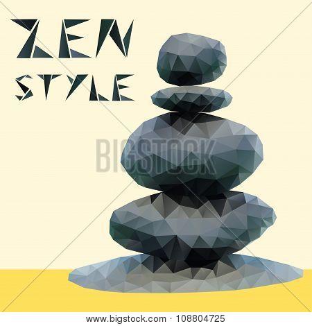 Stones In Zen Style