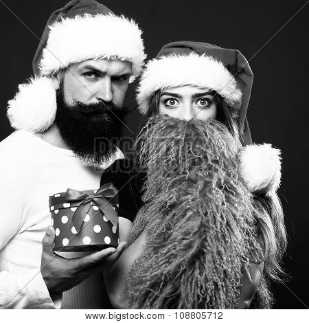 Christmas Bearded Couple