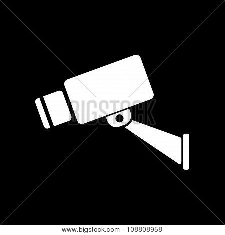 The cctv icon. Camera and surveillance, security, observation symbol. Flat
