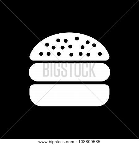 The hamburger icon. Sandwich and fast food symbol. Flat