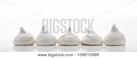 Five White French Meringues