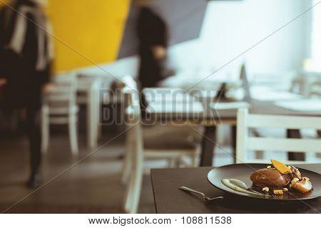 Tasty Dessert In Coffee House