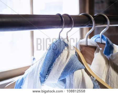 Shirt Hanging Display Fashion And Lifestyle Shop