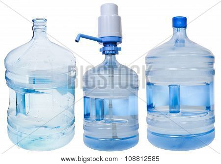 Set Of 5 Gallon Drinking Water Bottles