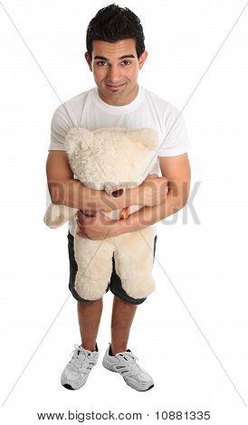 Man Hugging Teddy Bear
