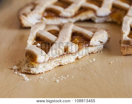 Crostata Cake Over Wood