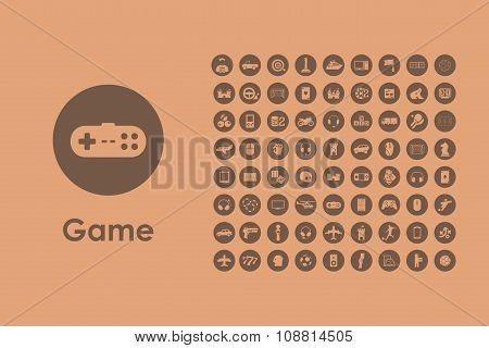 Set of gaming simple icons