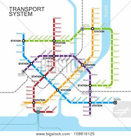 metro or subway map design