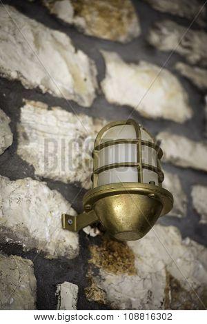 Retro Classic Style Street Electric bronze Iron Lamp