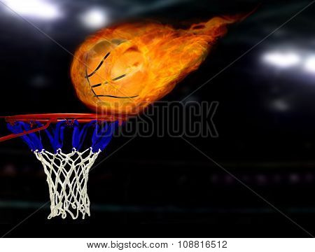 Basketball Shoot On Fire