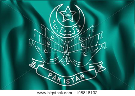 Old Emblem Of Pakistan. Rectangular Shape Icon