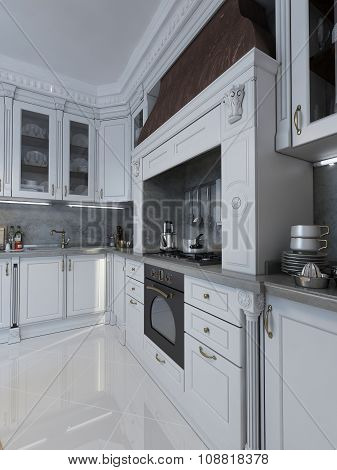 Luxury Kitchen In Neo-classical Style