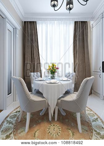 Luxury Dining Room In Classic Style
