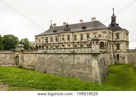 Lviv, Ukraine, 24 May 2015: Old stone gothic Podgoretskiy castle palace king residence