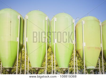 Agricultural Green Silos.