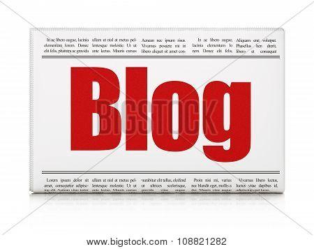 Web design concept: newspaper headline Blog