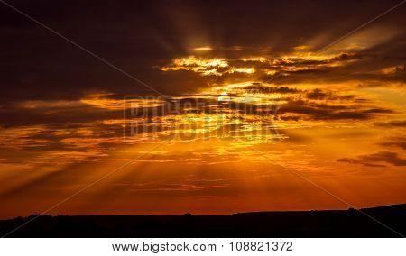 beautiful dramatic sunset
