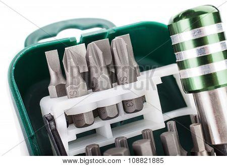 Hard metal screwdriver bits