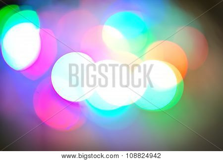 Background Of Defocussed Color Lights With Sparkles