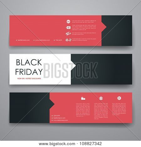 Set of modern design banner template in sale style